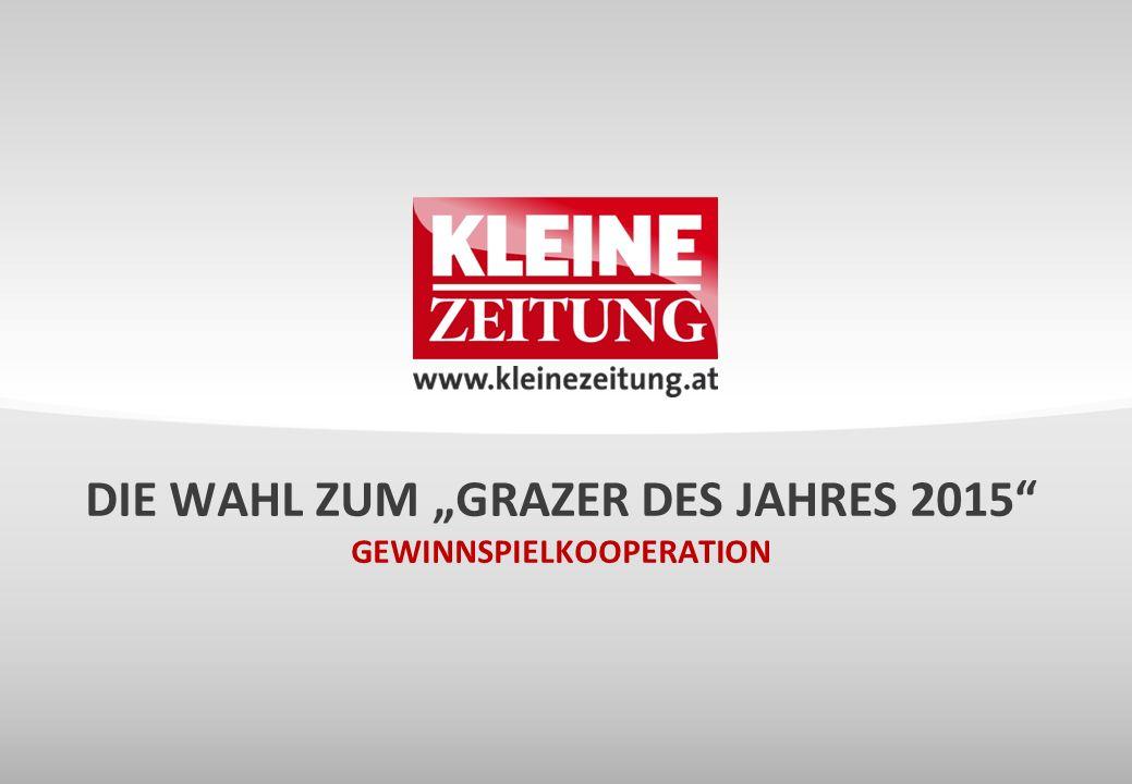 """Die Wahl zum """"Grazer des Jahres 2015 Gewinnspielkooperation"""