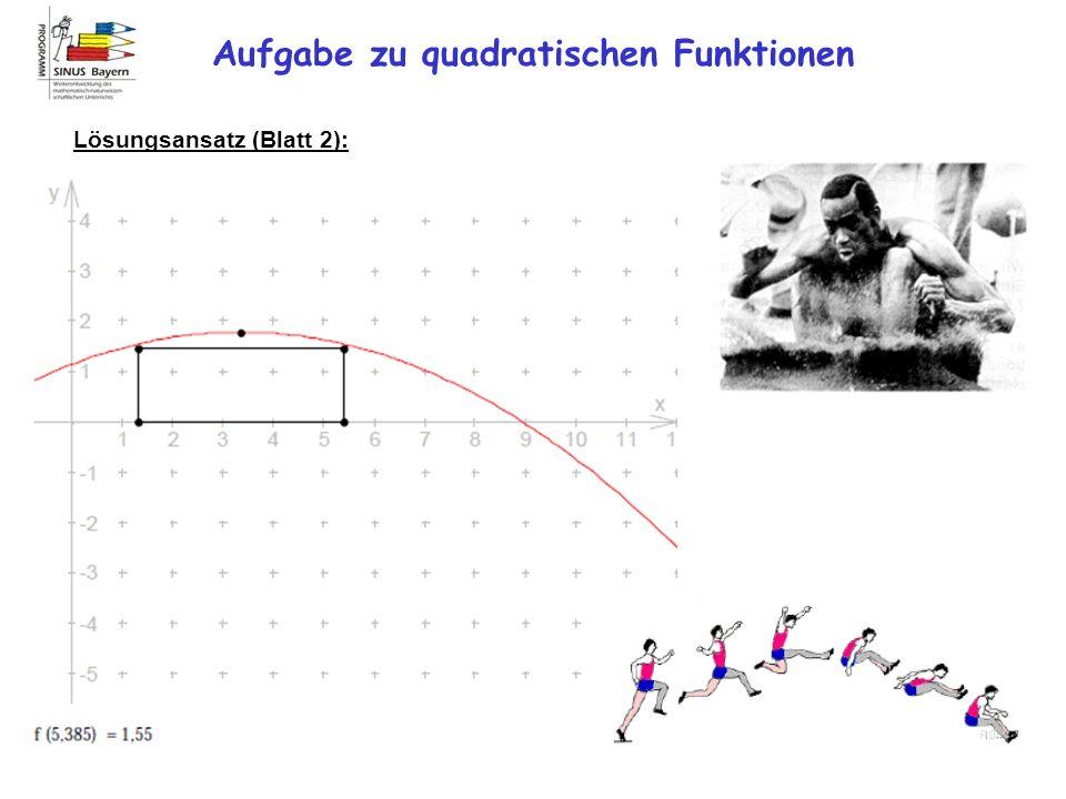 Aufgabe zu quadratischen Funktionen