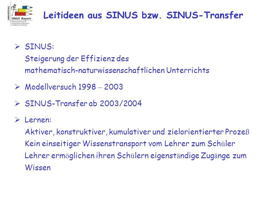 Leitideen aus SINUS bzw. SINUS-Transfer