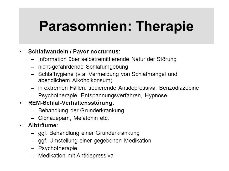 Parasomnien: Therapie