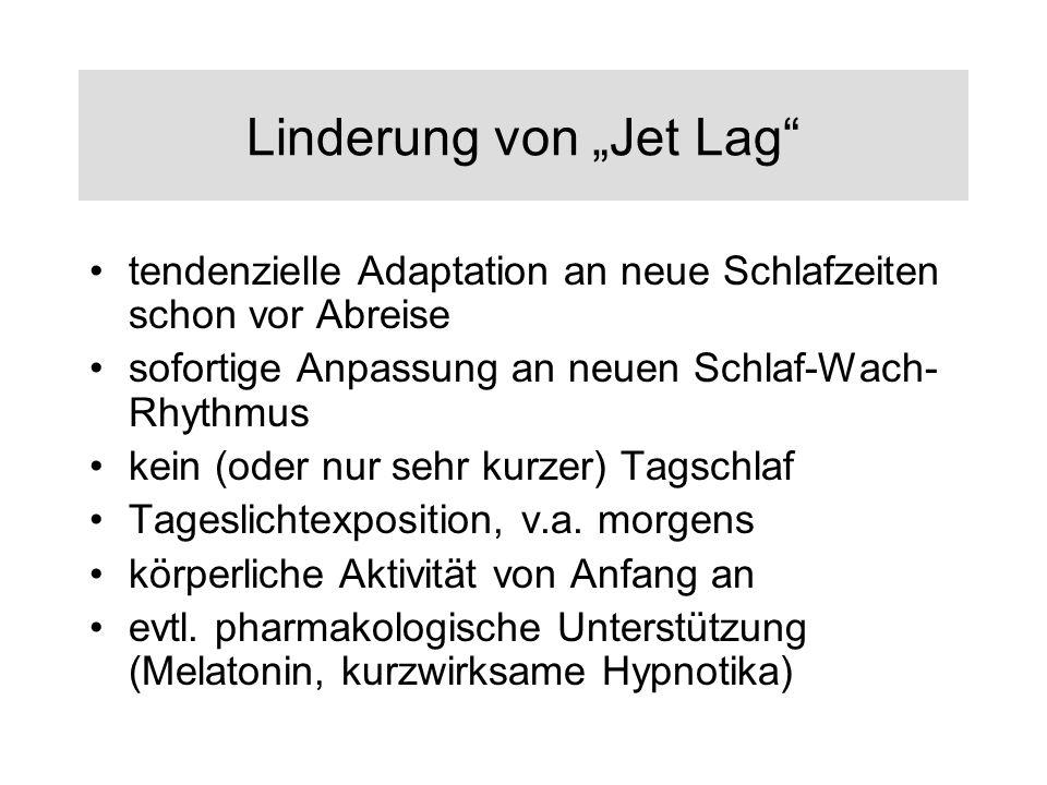 """Linderung von """"Jet Lag"""
