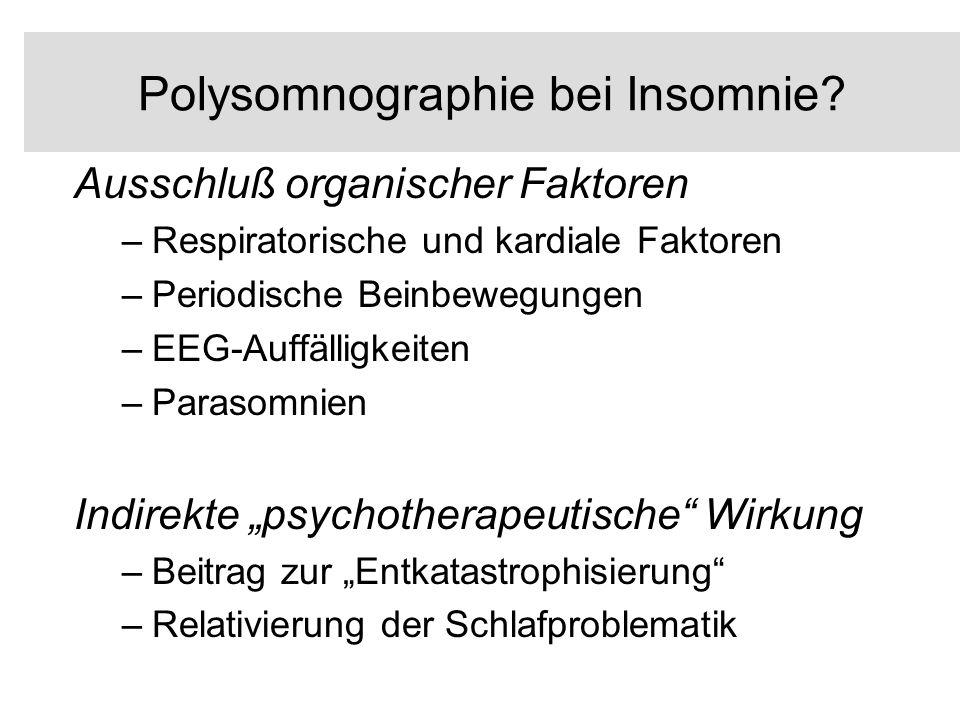 Polysomnographie bei Insomnie