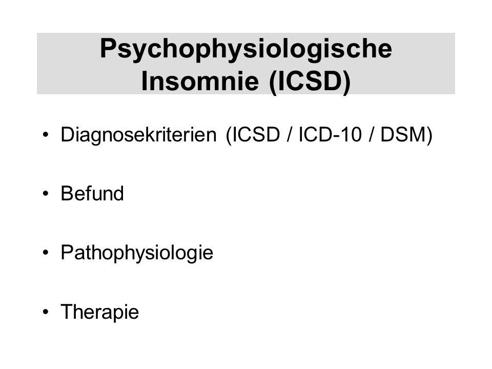 Psychophysiologische Insomnie (ICSD)