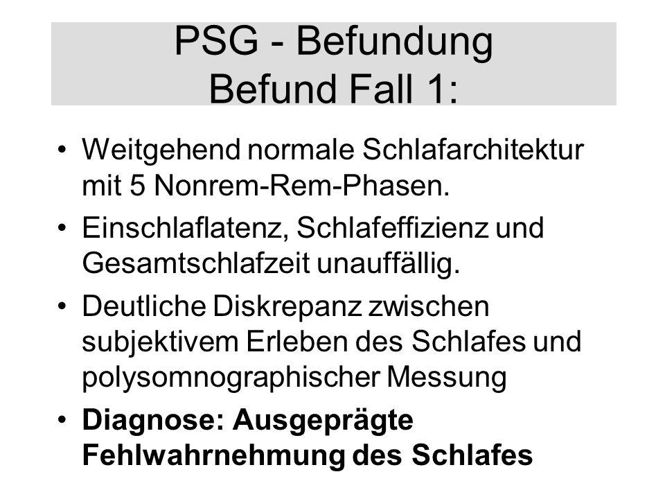 PSG - Befundung Befund Fall 1: