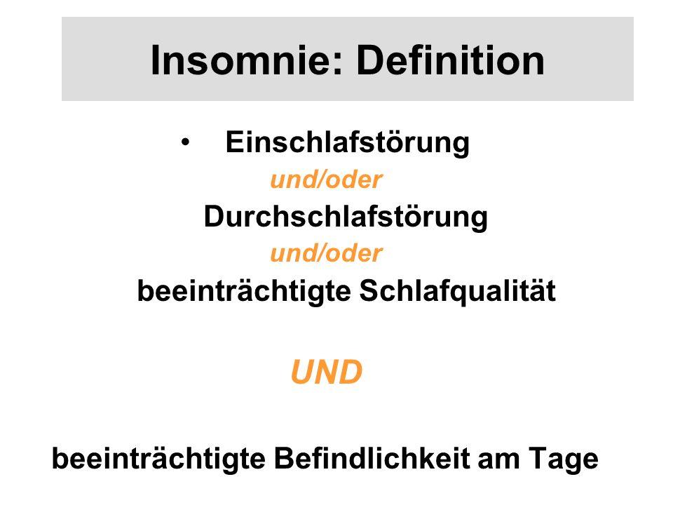 beeinträchtigte Schlafqualität beeinträchtigte Befindlichkeit am Tage