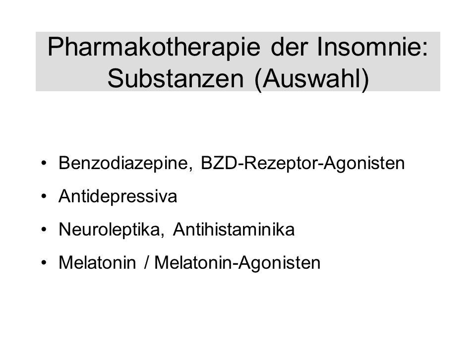 Pharmakotherapie der Insomnie: Substanzen (Auswahl)