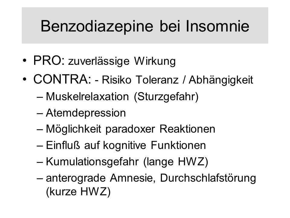 Benzodiazepine bei Insomnie