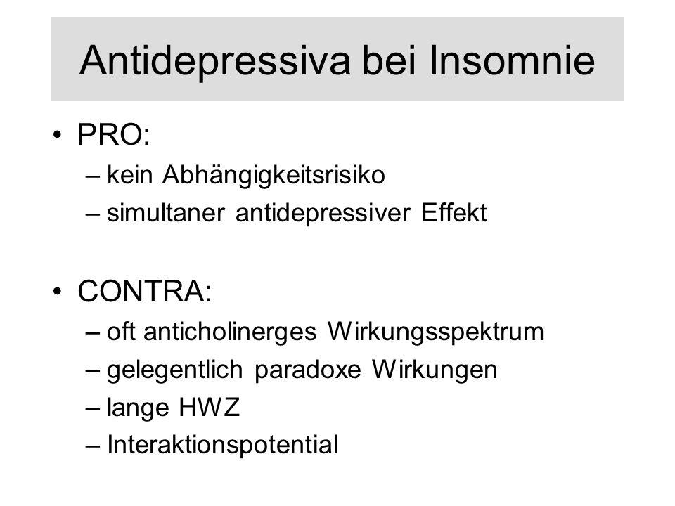Antidepressiva bei Insomnie
