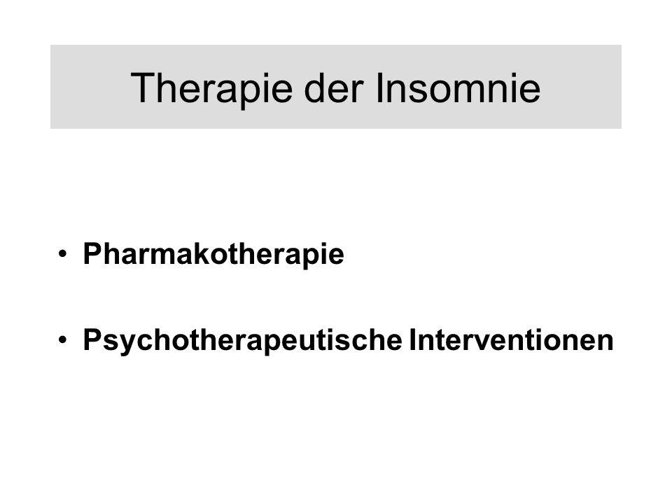 Therapie der Insomnie Pharmakotherapie
