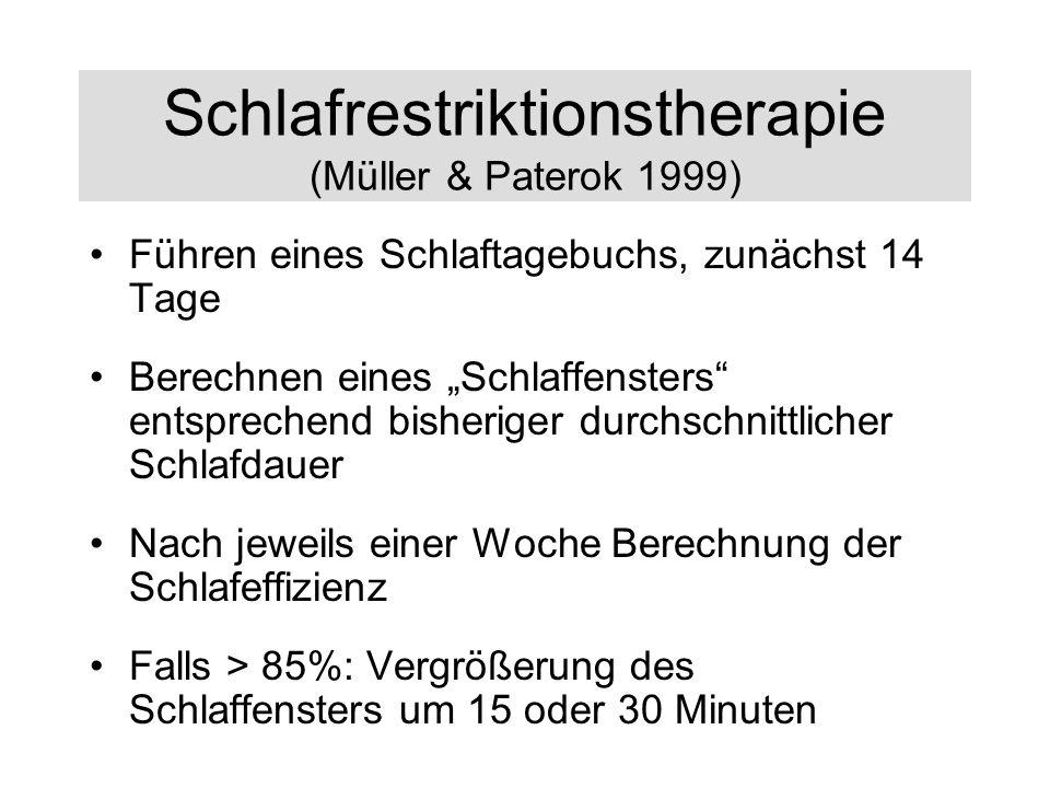 Schlafrestriktionstherapie (Müller & Paterok 1999)