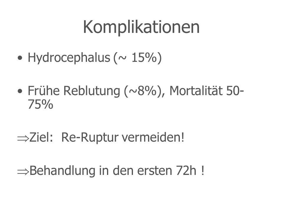 Komplikationen Hydrocephalus (~ 15%)