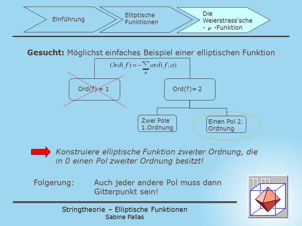 Gesucht: Möglichst einfaches Beispiel einer elliptischen Funktion