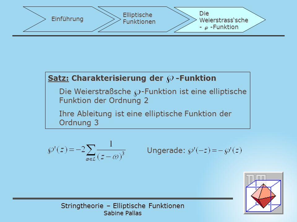 Satz: Charakterisierung der -Funktion