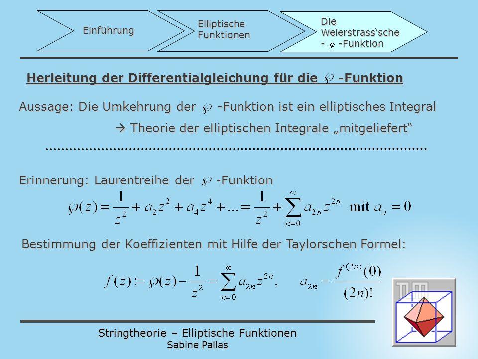 Herleitung der Differentialgleichung für die -Funktion