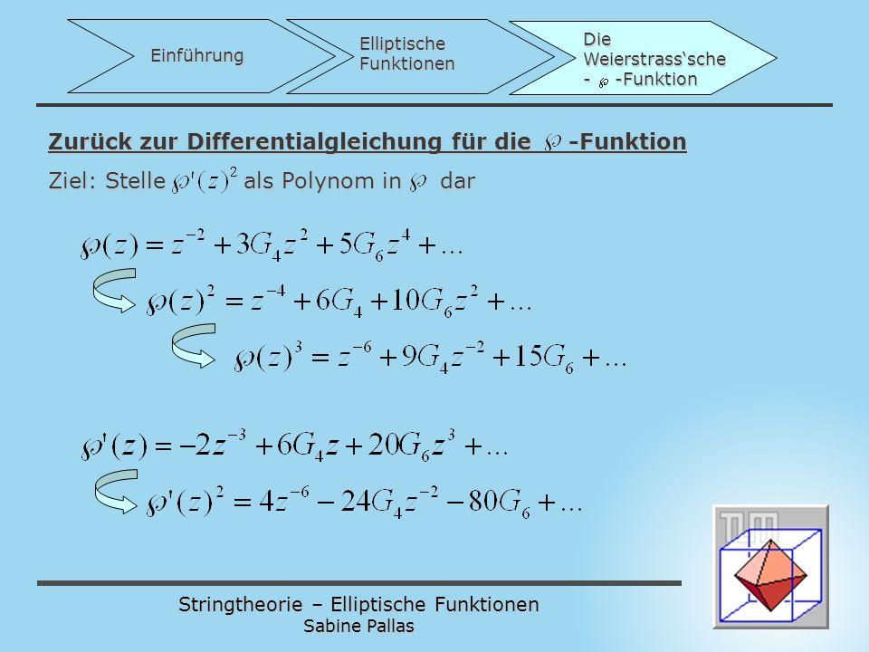 Zurück zur Differentialgleichung für die -Funktion