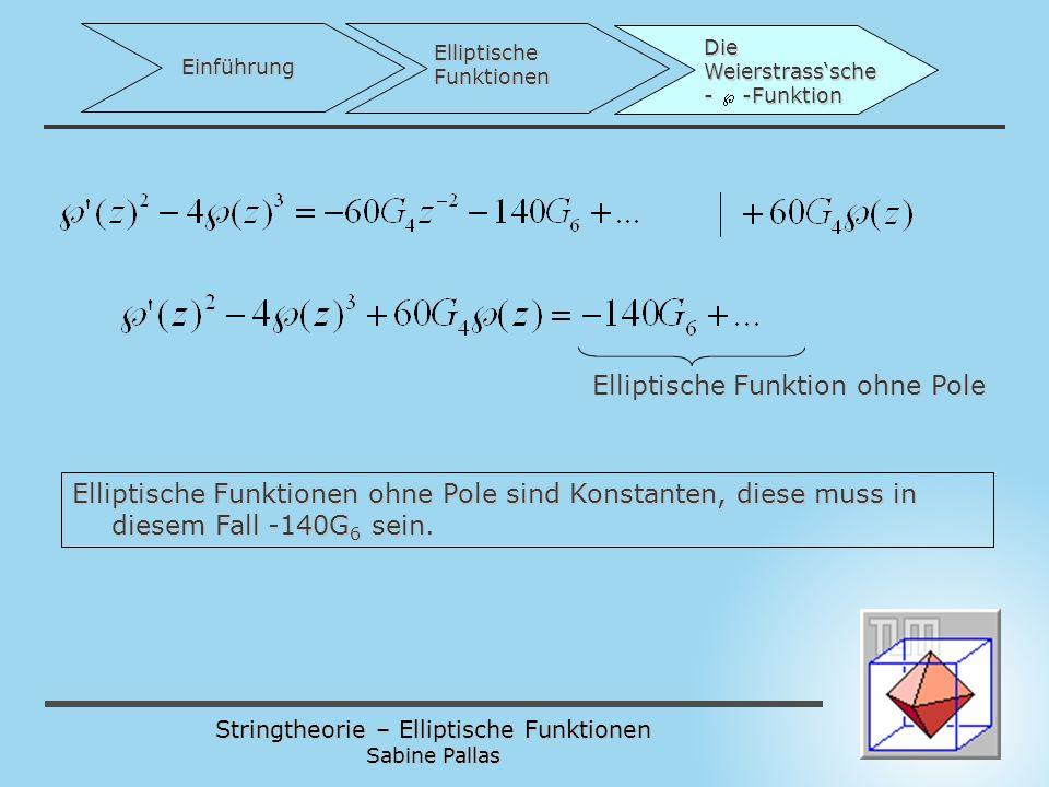 Elliptische Funktion ohne Pole