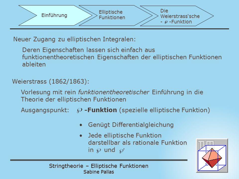 Neuer Zugang zu elliptischen Integralen: