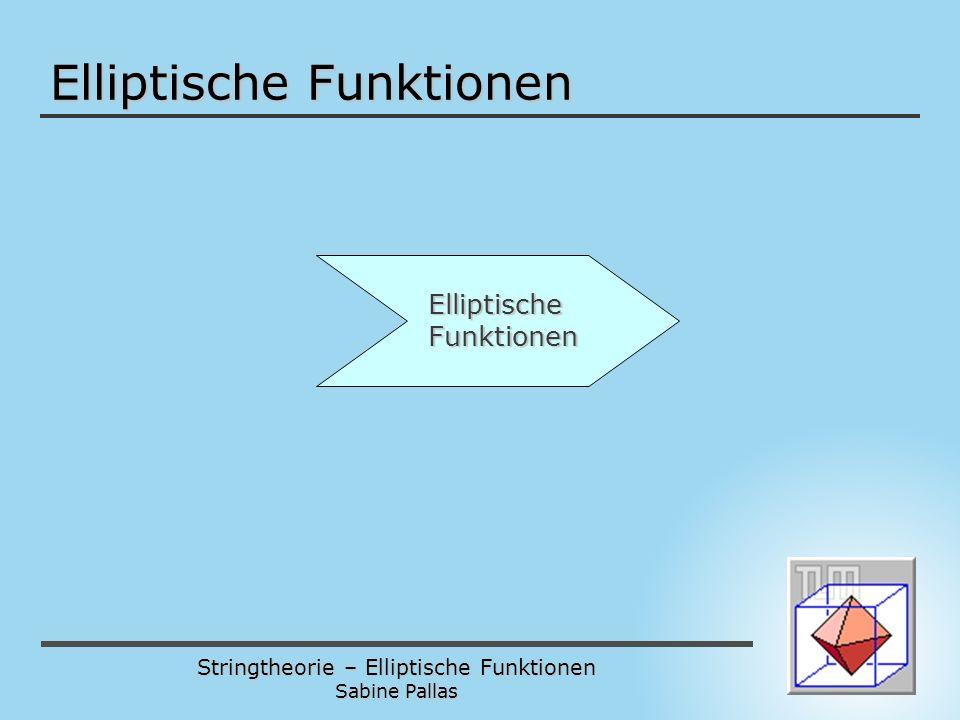 Elliptische Funktionen