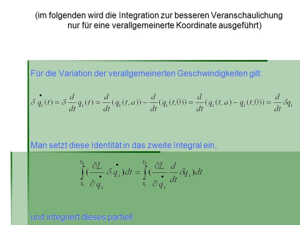 (im folgenden wird die Integration zur besseren Veranschaulichung nur für eine verallgemeinerte Koordinate ausgeführt)