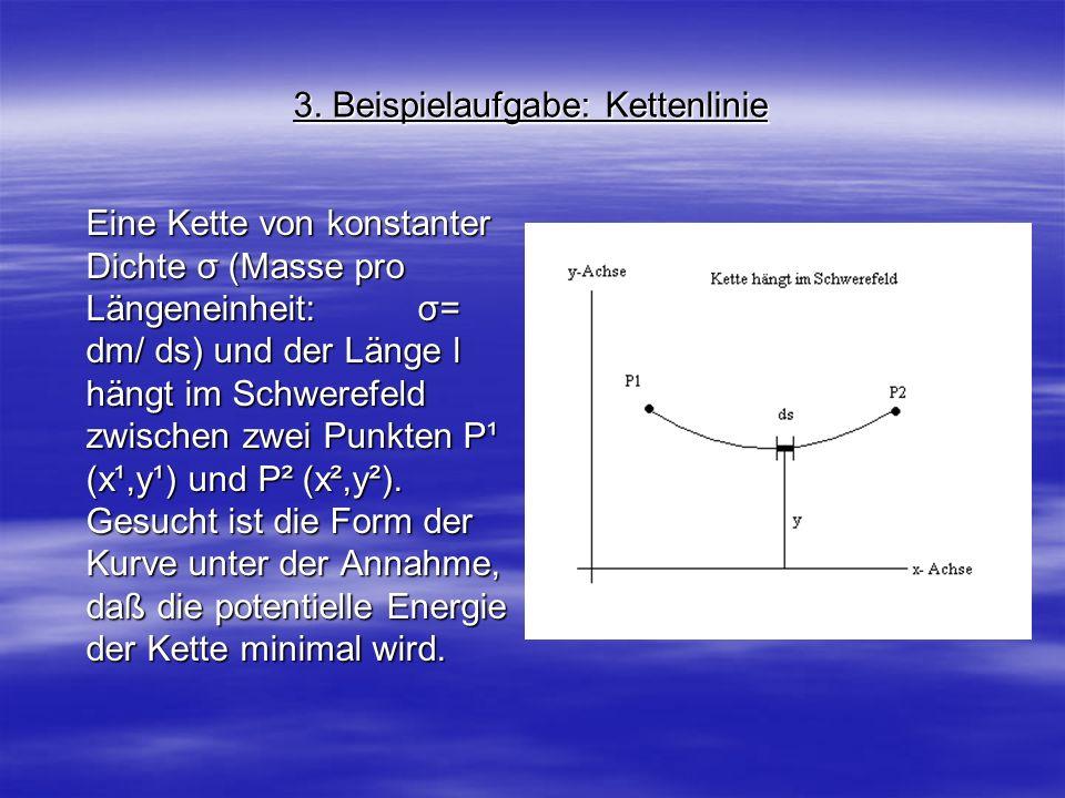 3. Beispielaufgabe: Kettenlinie