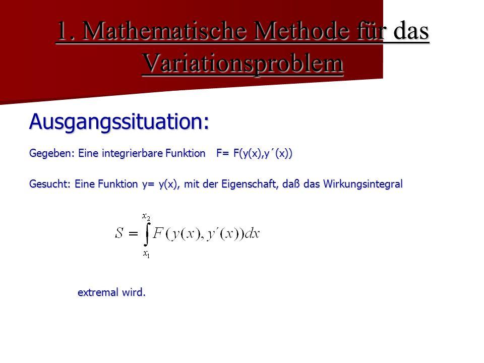 1. Mathematische Methode für das Variationsproblem