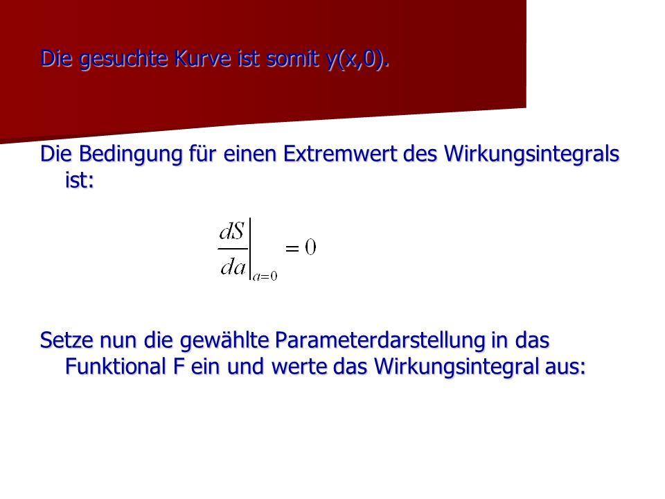 Die gesuchte Kurve ist somit y(x,0).