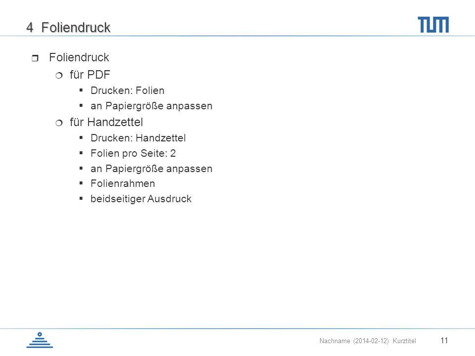 4 Foliendruck Foliendruck für PDF für Handzettel Drucken: Folien