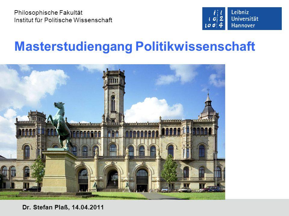 Masterstudiengang Politikwissenschaft