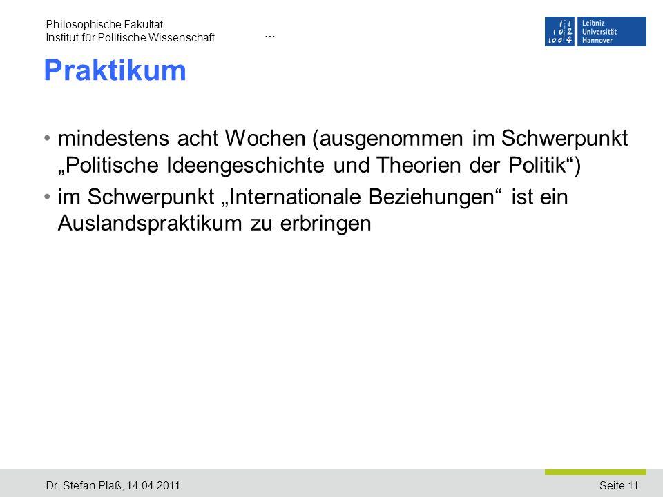 Philosophische Fakultät Institut für Politische Wissenschaft