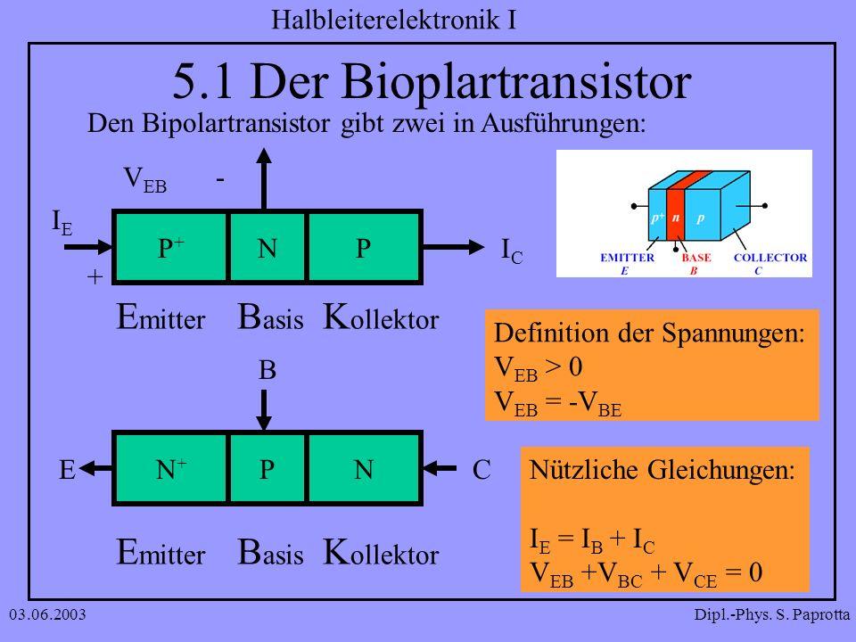 5.1 Der Bioplartransistor