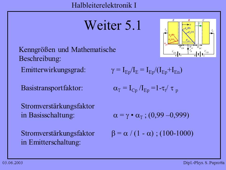 Weiter 5.1 Kenngrößen und Mathematische Beschreibung: