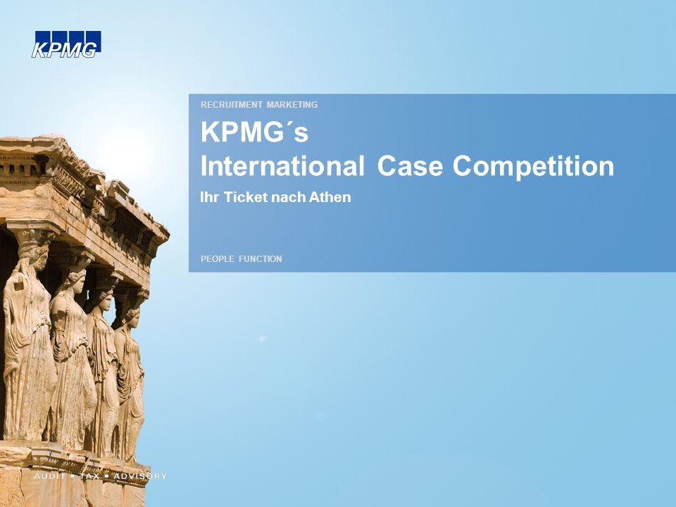 KPMG´s International Case Competition Ihr Ticket nach Athen