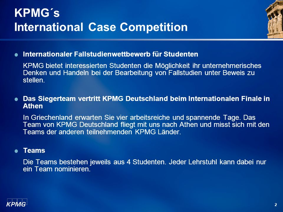 KPMG´s International Case Competition