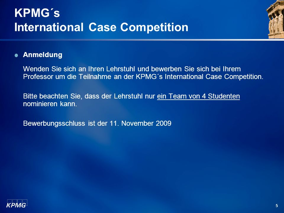 KPMG´s International Case Competition