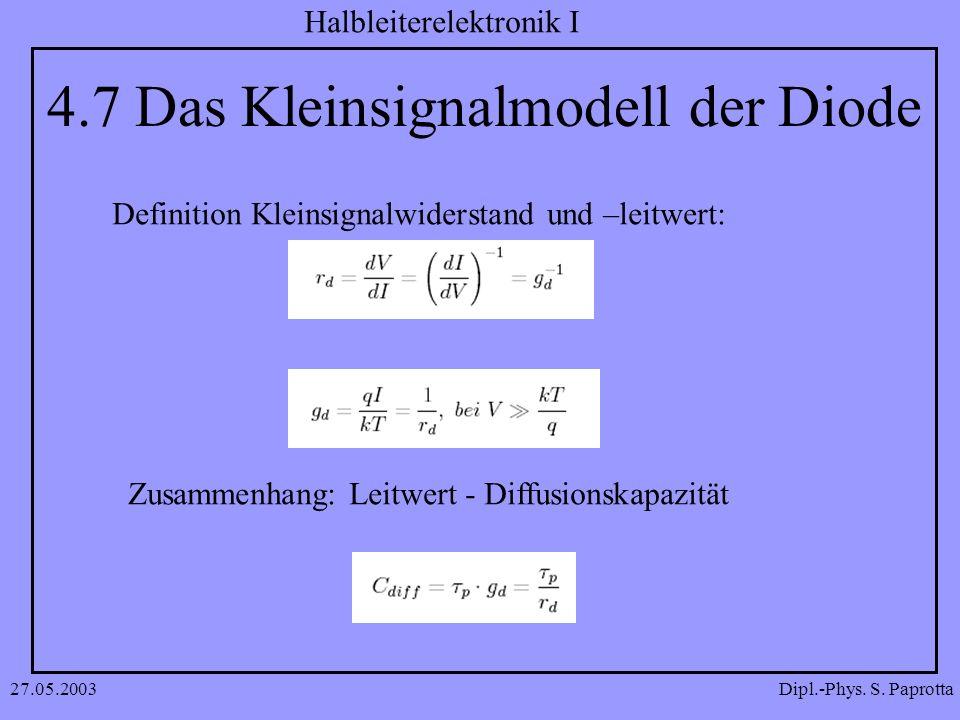 4.7 Das Kleinsignalmodell der Diode