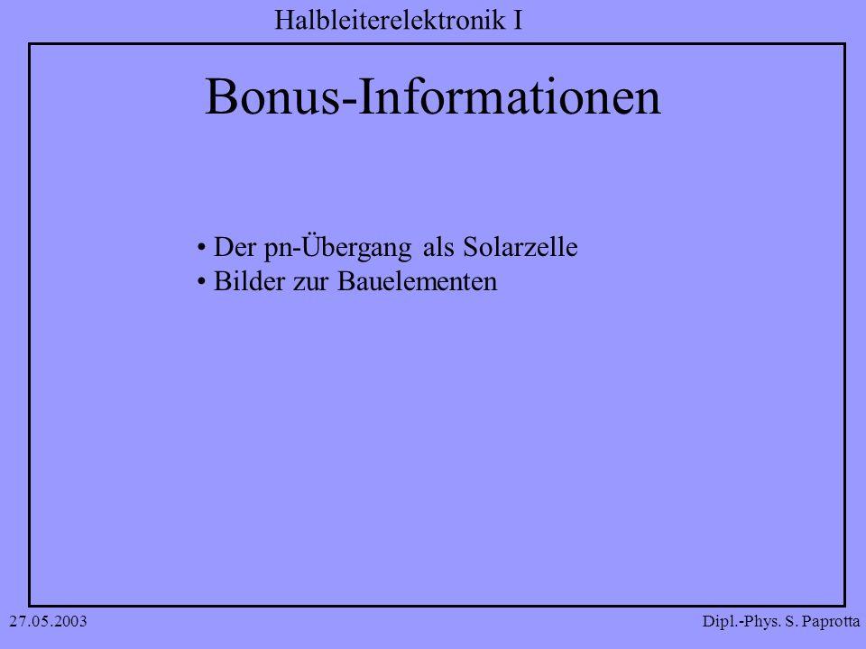 Bonus-Informationen Der pn-Übergang als Solarzelle