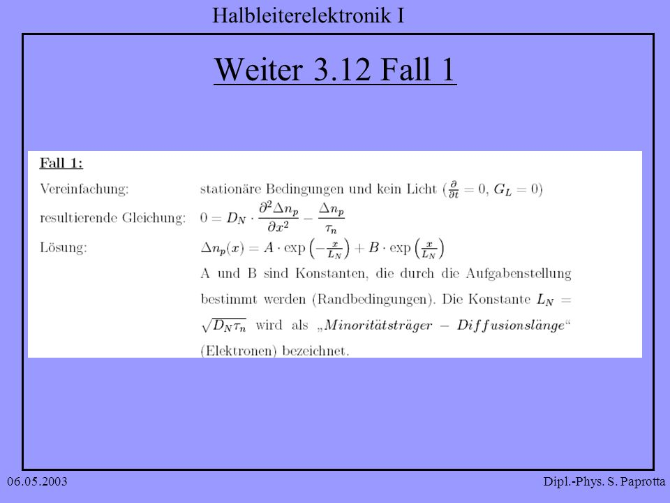 Weiter 3.12 Fall 1 06.05.2003