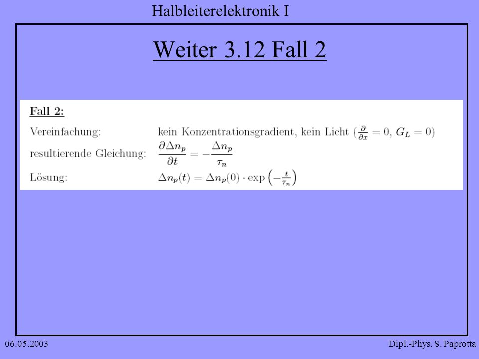 Weiter 3.12 Fall 2 06.05.2003