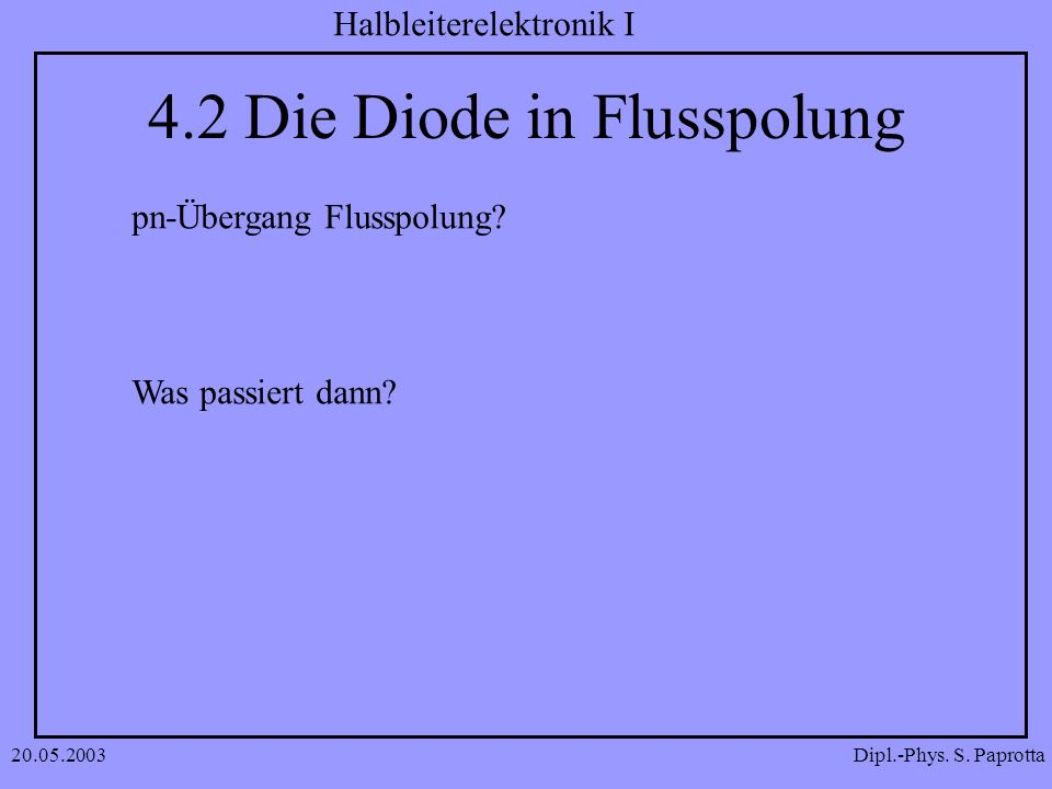 4.2 Die Diode in Flusspolung