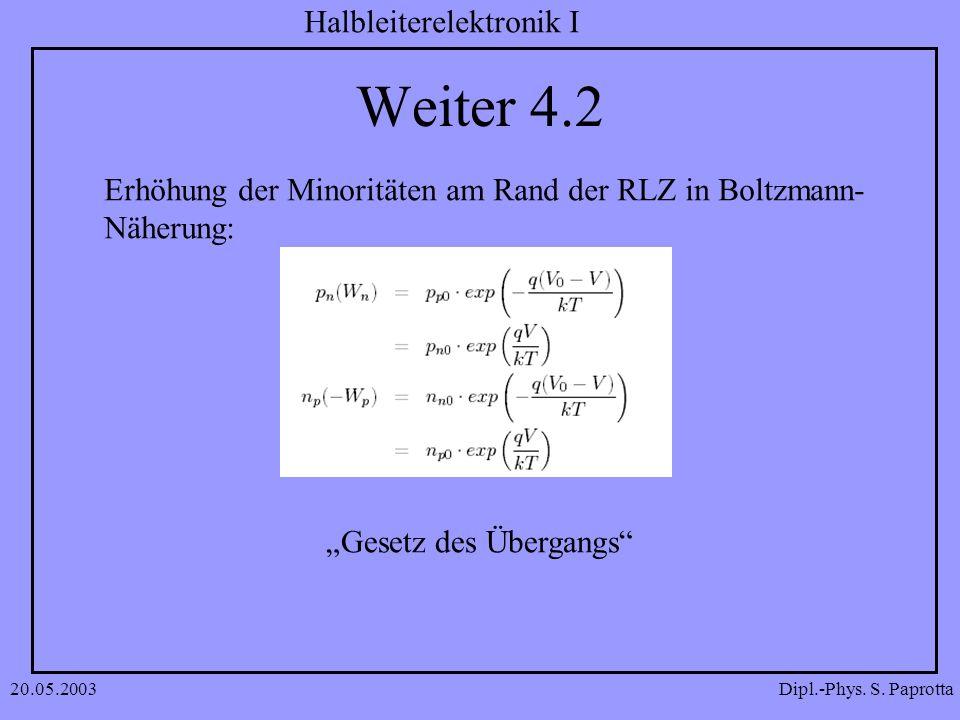 Weiter 4.2 Erhöhung der Minoritäten am Rand der RLZ in Boltzmann-