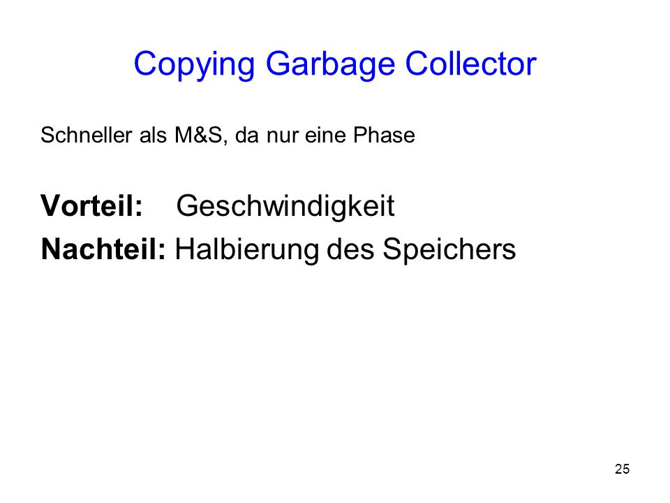 Copying Garbage Collector
