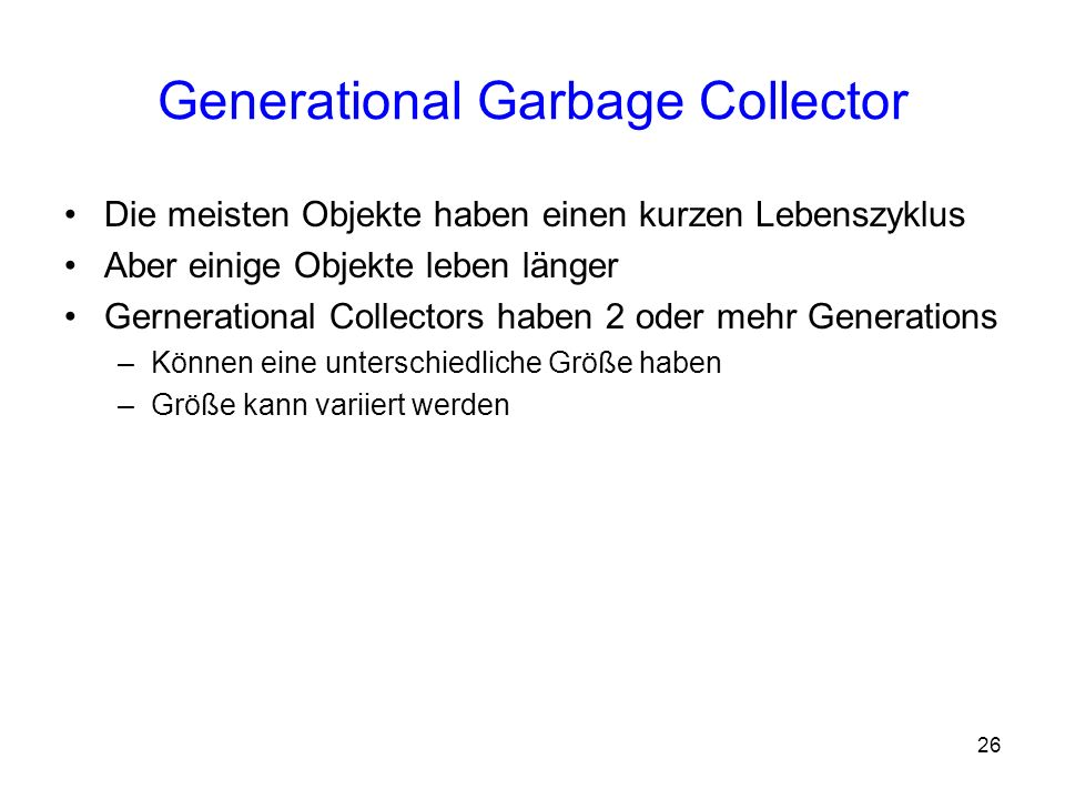 Generational Garbage Collector