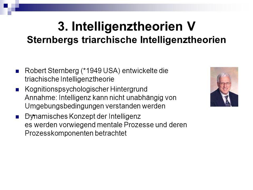 3. Intelligenztheorien V Sternbergs triarchische Intelligenztheorien