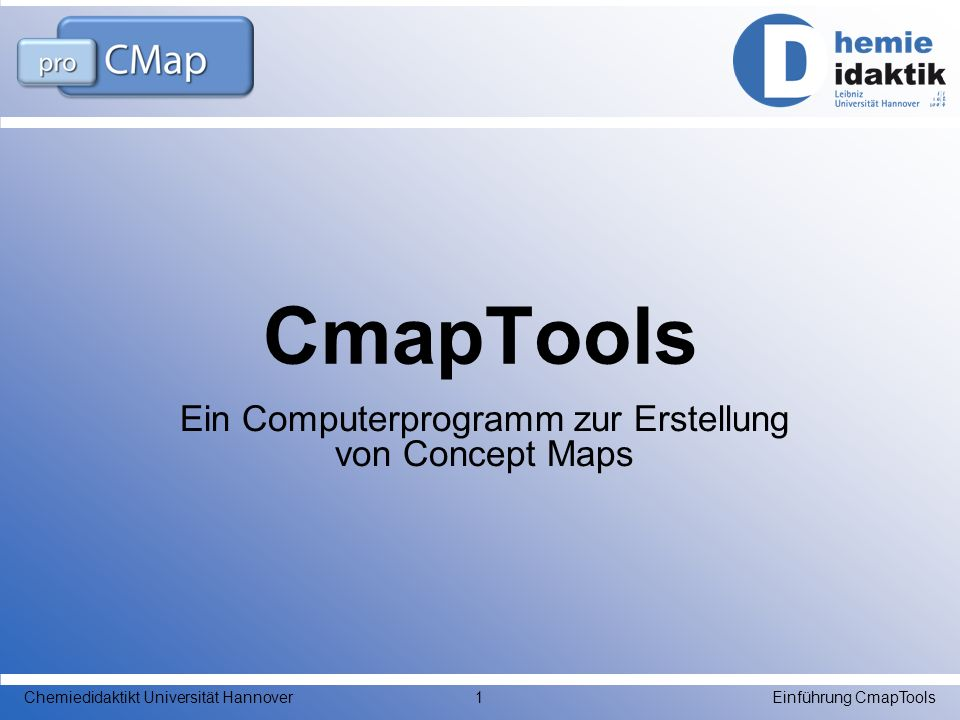 Ein Computerprogramm zur Erstellung von Concept Maps