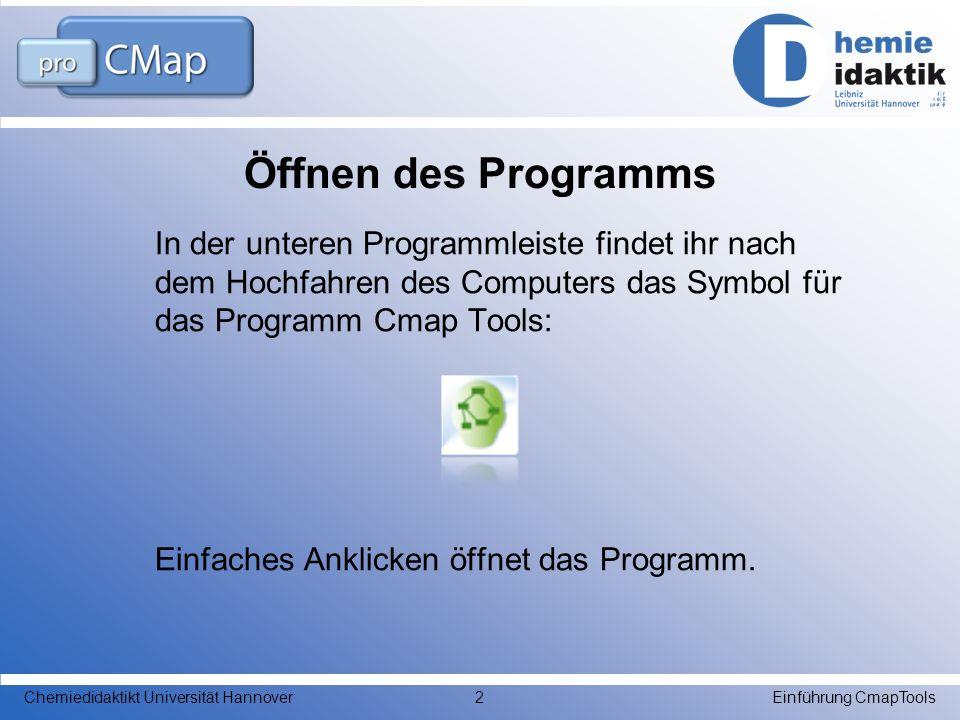 Öffnen des Programms