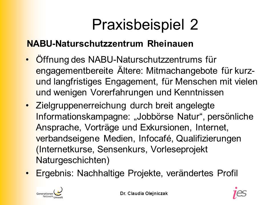 Praxisbeispiel 2 NABU-Naturschutzzentrum Rheinauen