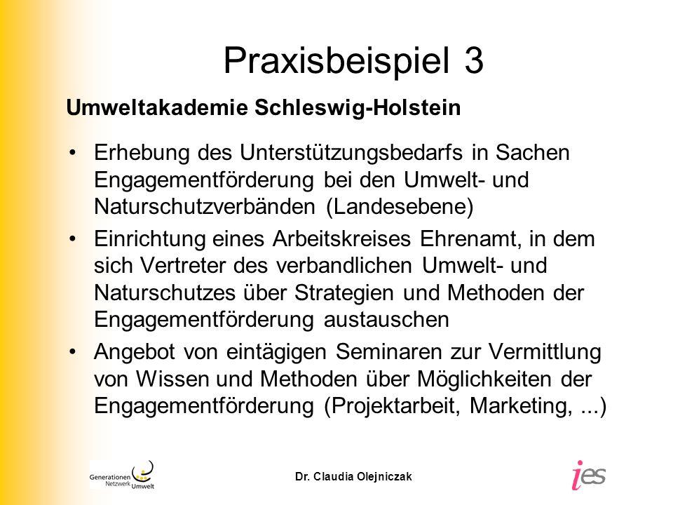 Praxisbeispiel 3 Umweltakademie Schleswig-Holstein