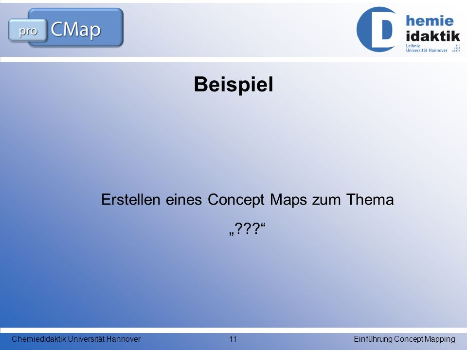 """Erstellen eines Concept Maps zum Thema """""""