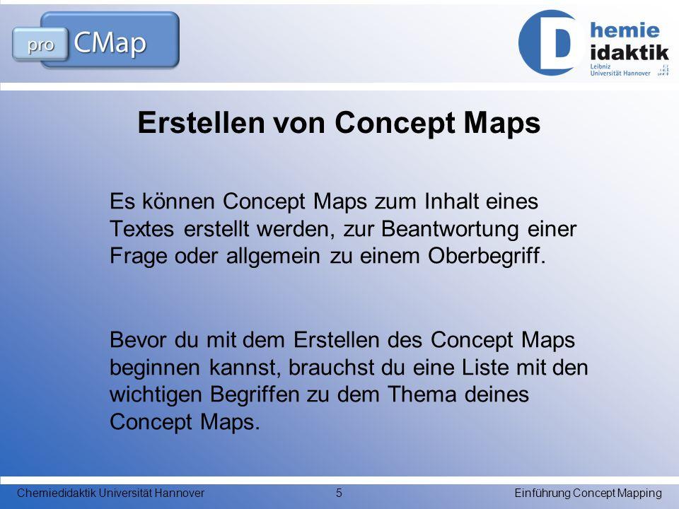Erstellen von Concept Maps