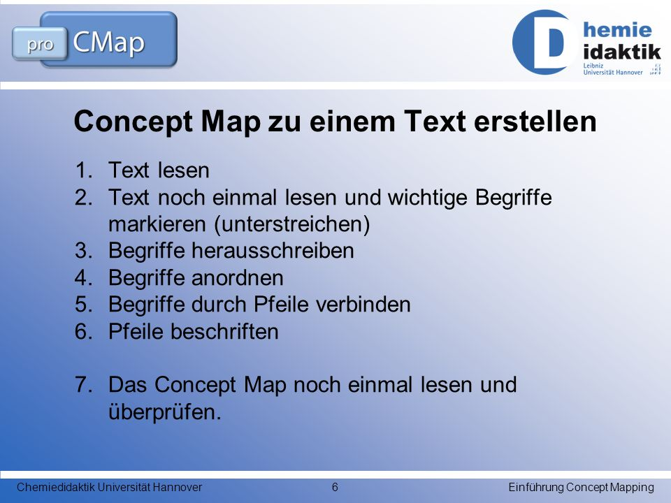 Concept Map zu einem Text erstellen